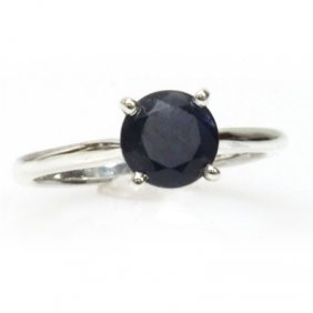Natural 1.5ctw Sapphire .925 Sterling Silver Ring