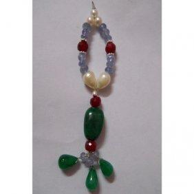 Natural 65.60ct Pearl,Tanzanite,Ruby,Emerald Pendant .9