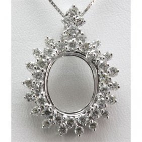 Genuine 1.42 Ctw Round Cut Diamond Pendant 18k