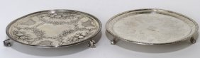 (2) Early Sterling Silver Salvers, Kirk