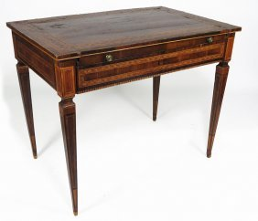 18TH C. NORTHERN ITALIAN INLAID DESK