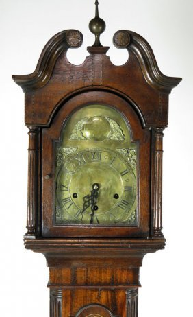 GEORGIAN-STYLE MAHOGANY GRANDMOTHER CLOCK