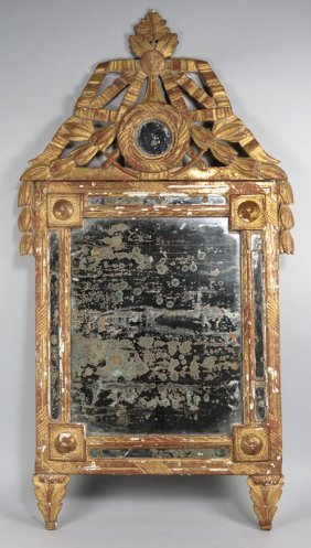 18TH C. ITALIAN CARVED GILTWOOD MIRROR