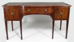 ENGLISH GEORGE III INLAID MAHOGANY SIDEBOARD