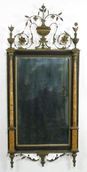 NEOCLASSICAL GILT GESSO AND MARBLE �BILBAO� MIRROR