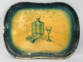 ART DECO PAINTED TOLE TRAY