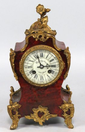 FRENCH LOUIS XV-STYLE MANTEL CLOCK