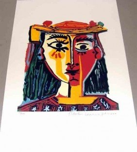 "Domaine Picasso ""Bust Of A Woman With Hat"" Giclee"