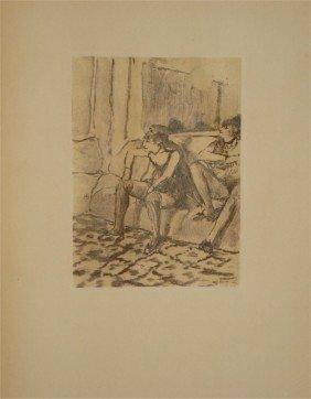 """DEGAS """"Deux Femmes """" Rare LITHOGRAPHIE #1938"""