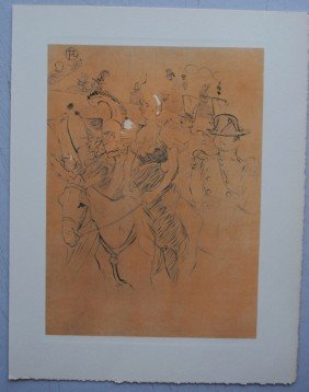 "TOULOUSE-LAUTREC ""Moulin Rouge""  LITHO SIGNEE"