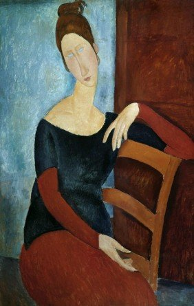 "Amedeo Modigliani "" The Artist's Wife""."