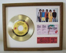 The Rolling Stones Gold Plated Record