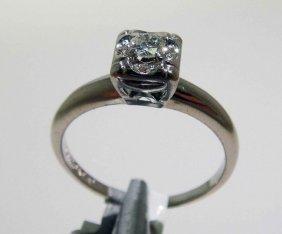 0.19ctw Diamond 14KT White Gold Ring