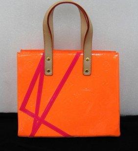 Louis Vuitton Robert Wilson Orange Vernis Handbag