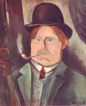"""Vlaminck """"Portrait De Lartiste"""" Lithograph Plate Signed"""