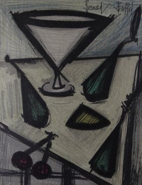"Bernard Buffet ""Morte Aux Fruits"" Lithograph W/ CO"