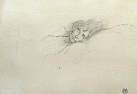 """LAUTREC """"Femme Endormie""""  Lithograph W/ COA"""