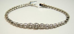 18KT White Gold 4.87ctw Diamond Tennis Bracelet