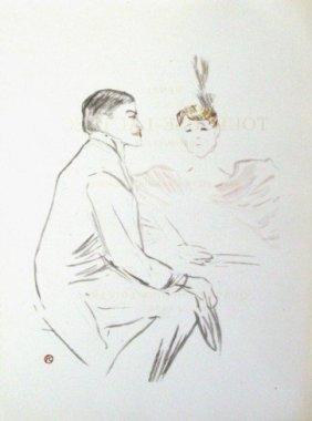 """Lautrec """"Lucien Guitry Et Jeanne Granier"""" Litho Si"""
