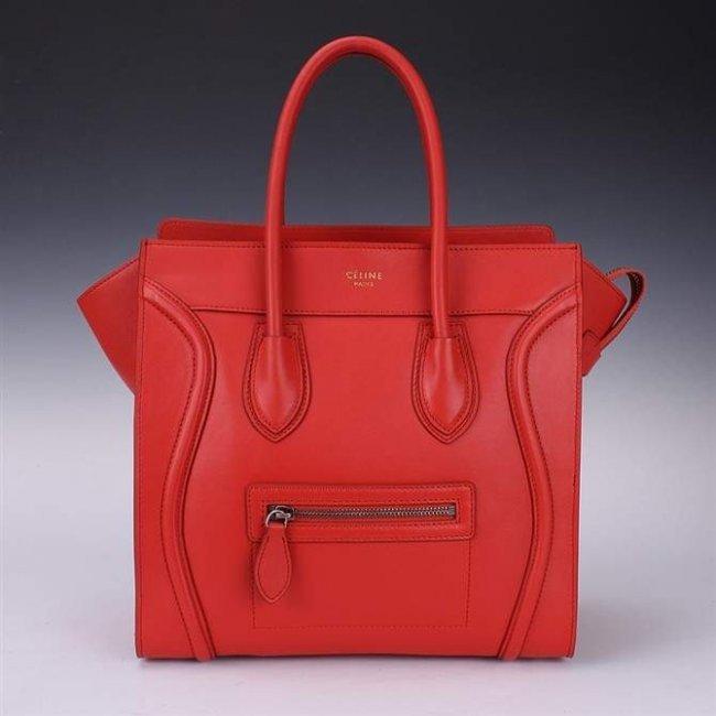 Original Celine Red/Orange Mini Hand Bag : Lot 15C