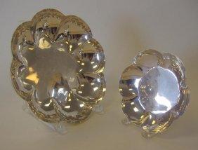 2 Sterling Modernist Lobed Bowls, Enrique Ledesma