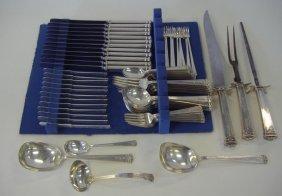 J.S. Co Sterling Silver Flatware, 79-pcs 1921 Ptn