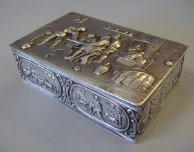 Dutch Holland Silver Repousse Box