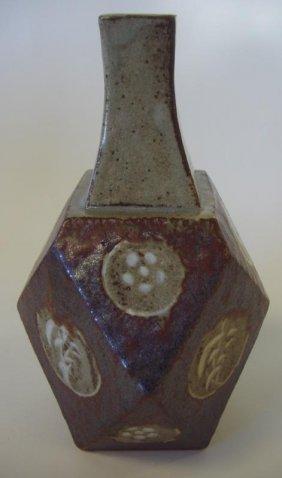 Tatsuzo Shimaoka Stoneware Vase, Signed