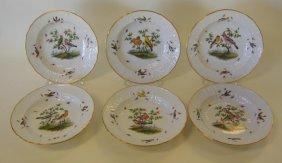 6 Meissen Porcelain Bowls Rothschild Bird Pattern