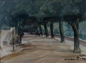 Otto Dill (1884-1957) The Promenade