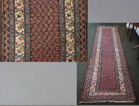 Antique Caucasian Kazak Carpet Runner, 12 Ft Long