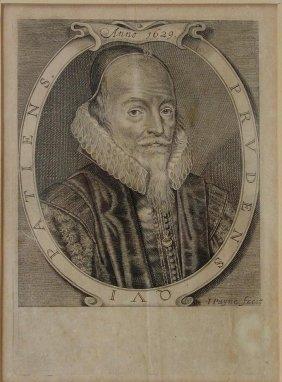 Sir Edward Coke Engraving By John Payne, 1629