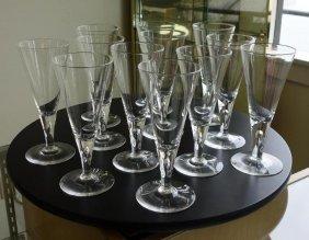 12 Steuben Crystal Water Goblets