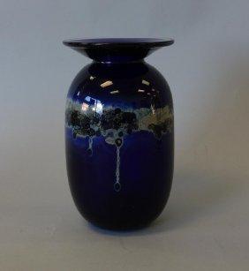 Kent Forest Ipsen Glass Paperweight Vase, Signed