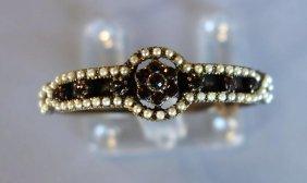 Victorian Bohemian Garnet & Seed Pearl Bracelet