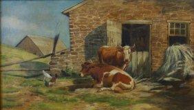 Thomas Bigelow Craig (1849-1924) In The Barnyard