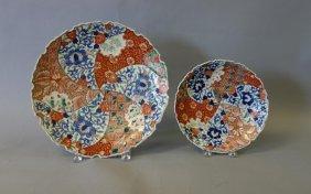 19thc Japanese Imari Charger & Plate