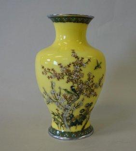 Japanese Cloisonne Enamel Shippo Ware Vase