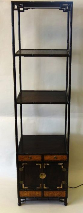 Korean Rosewood Etagere With Cabinet