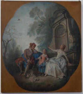18thc Continental School Oil On Canvas