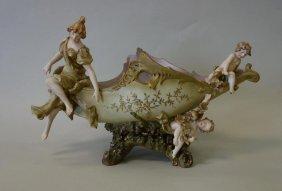 Royal Dux Figural Centerpiece Bowl