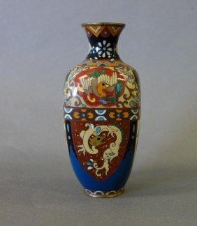 Japanese Cloisonne Vase, Meiji Era