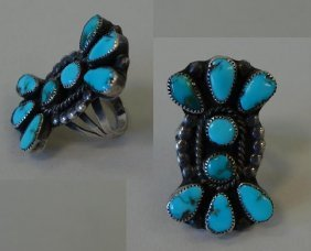 Navajo Turquoise Silver Ring