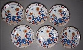 6 Chinese Export Imari Porcelain Saucers