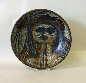 Mid-century Studio Pottery Stoneware Bowl, Signed
