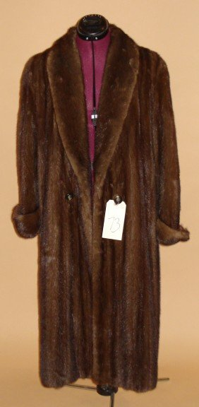 Vintage Fur Full-Length Coat