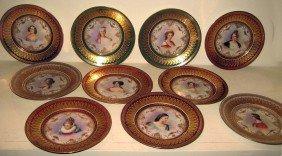 10 Dresden Porcelain Plates