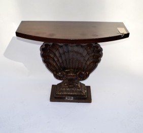 Hollywood Regency-Style Shell-Form Console