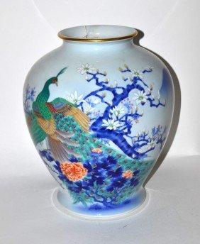 "Japanese ""Fukagawa"" Vase"