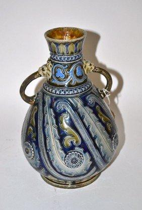 Moorish Style Faience Vase